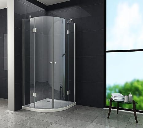 Duschkabine ANGOLO 80 x 80 x 180 cm (Viertelkreis) ohne Duschtasse