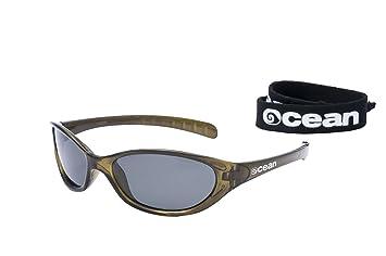 Ocean Sunglasses Oahu - Gafas de Sol polarizadas - Montura : Rojo Transparente - Lentes :
