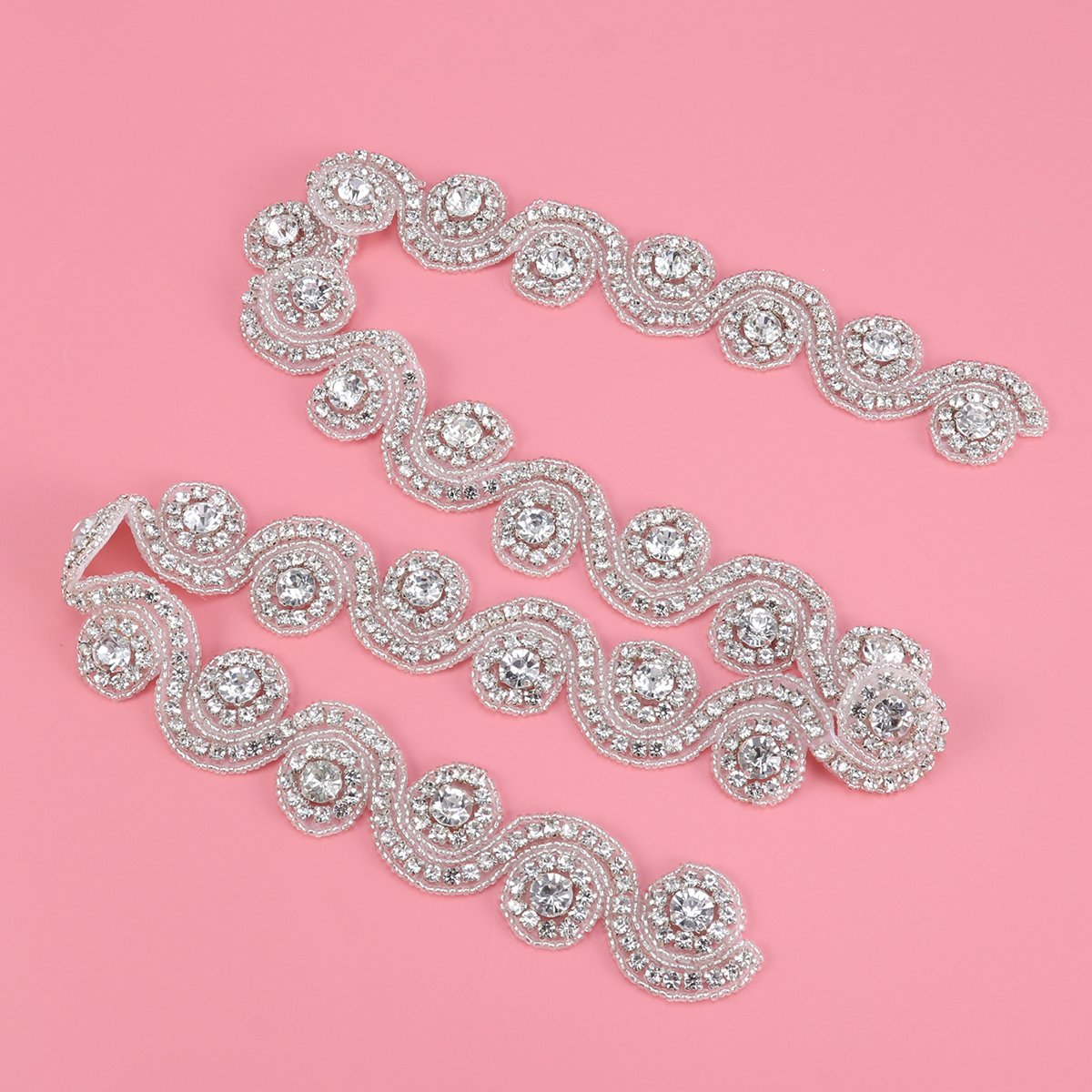 Perfecto Cinturones De Diamantes De Imitación Para Vestidos De ...