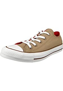 b6d40f32bcb692 Converse Chucks 162454C Beige Chuck Taylor All Star OX Teak Cherry Red  Chestnut Brown