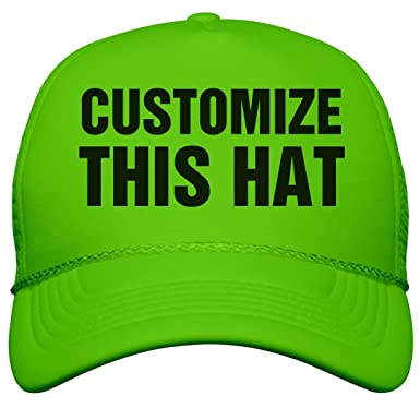 Amazon.com  Custom Neon Hats!  Neon Snapback Trucker Hat  Clothing cb563e84eac