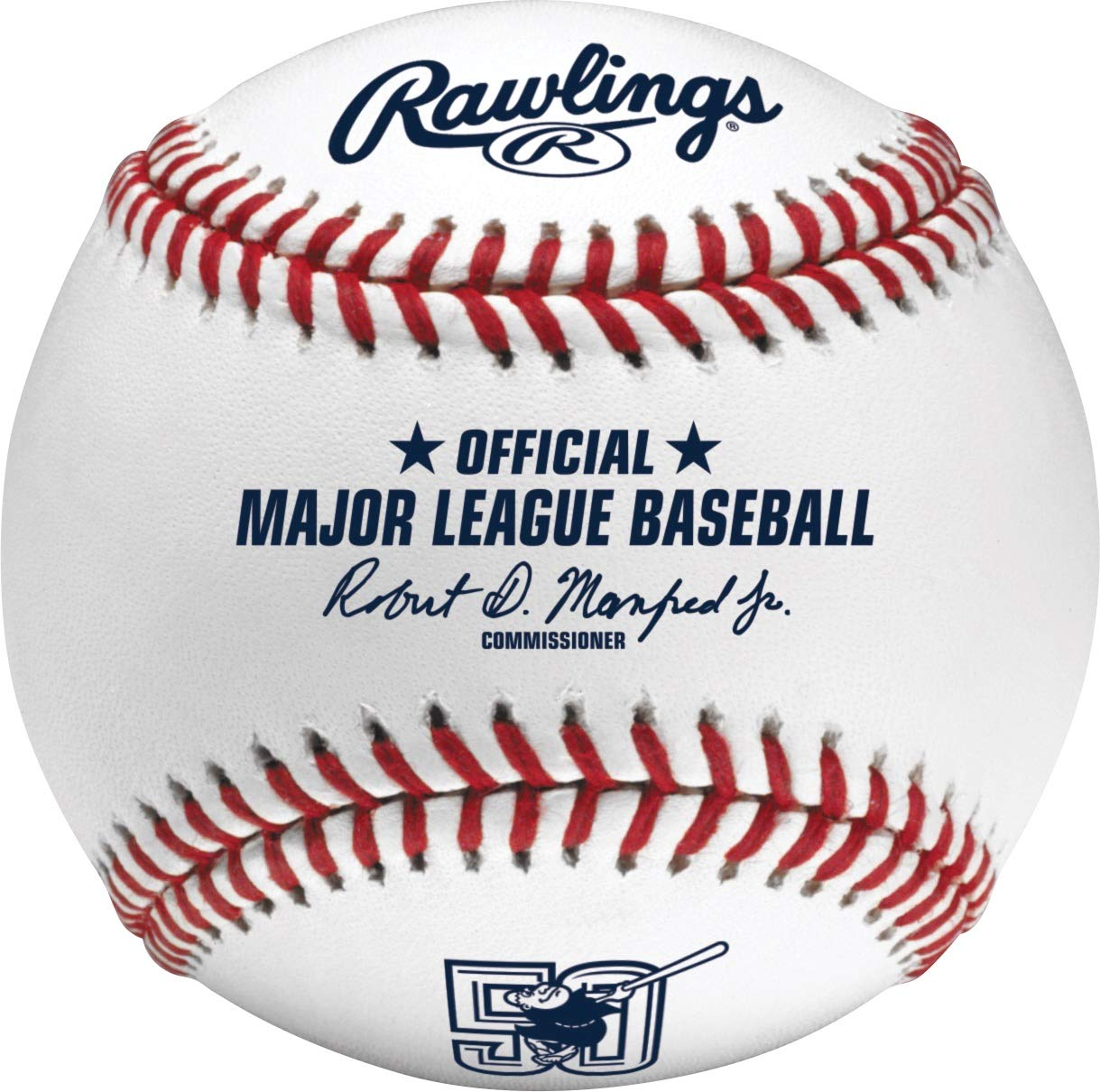 Cubed Rawlings San Diego Padres 50th Anniversary Official MLB Game Baseball