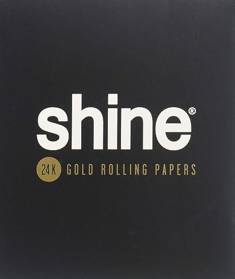 Shine 24K Gold Rolling Papers - King Size 1-Sheet Pack - 1x Gold Blunt Paper - Hochwertiges goldenes Blättchen