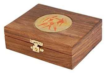 Amazoncom Wooden Jewelry Box Organizer For Women With Zodiac Sign
