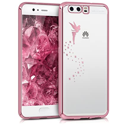 kwmobile Crystal TPU Case for Huawei P10 - Soft Flexible Transparent Silicone Protective Cover - Rose Gold/Transparent