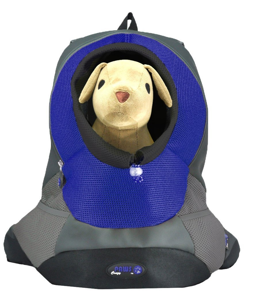 Crazy Paws  Pet Backpack Extra Large Blue