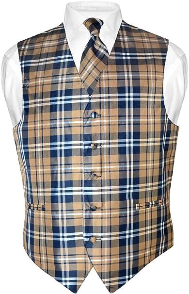 Plaid – Camisa para hombre de diseño vestido de cuello azul marino ...