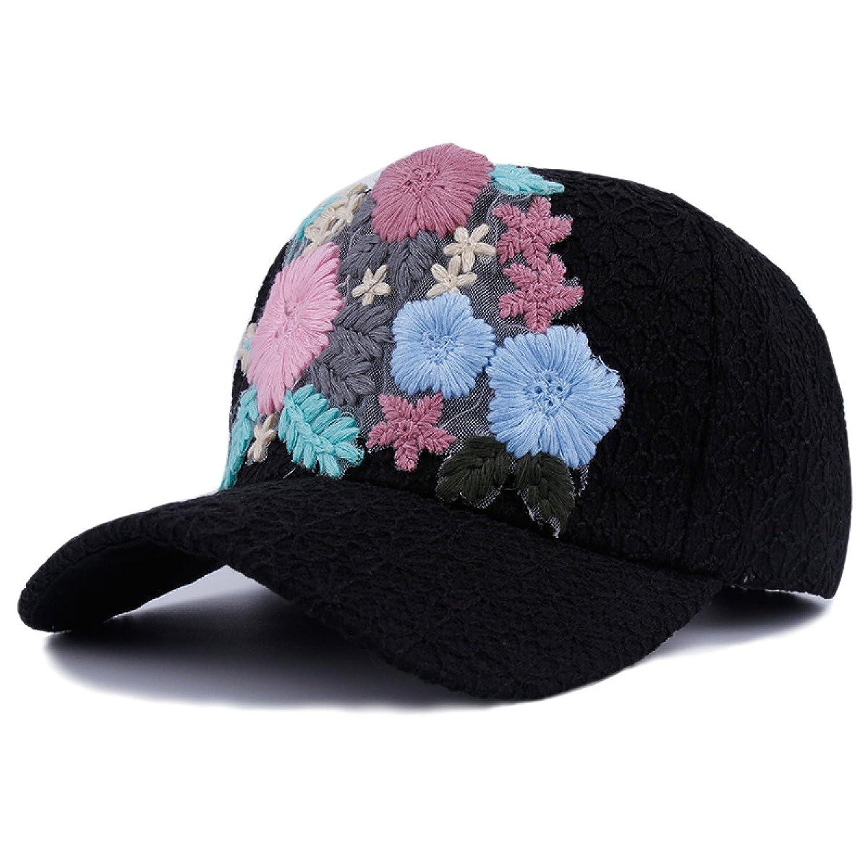 efab6d4b9c48 Señora Con Encanto Confortable Bordado Sombrero Para El Sol Gorra De ...