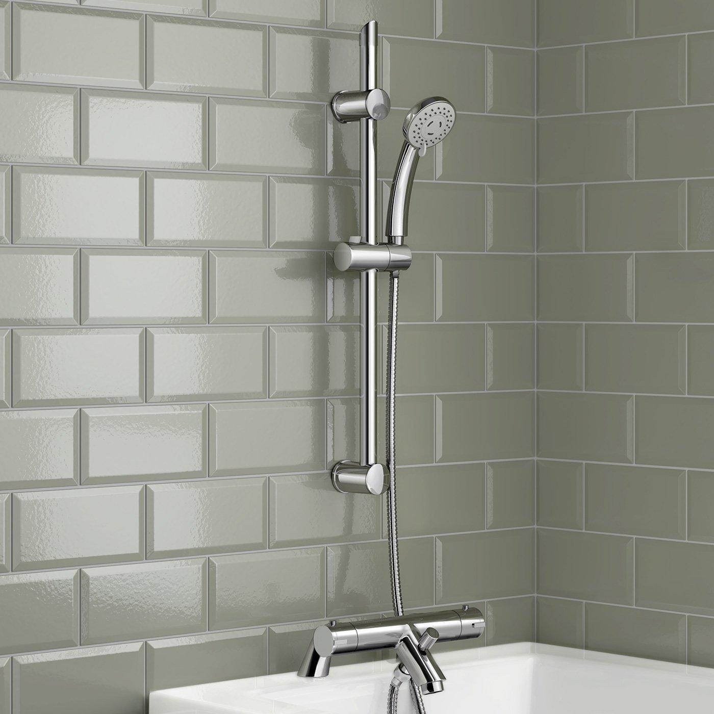 Columna de ducha de iBathUK con grifo mezclador termostático ...