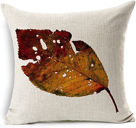 Golden Autumn by stolenpencil Autumn Leaves Throw Pillow Leaves  Floral Nature Modern Autumn 18x18 Square Throw Pillow by Spoonflower