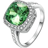 Yoursfs Big Cubic Zirconia Rings For Women Simulation Diamonds Engagement Rings