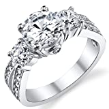 "Amazon Price History for:1.50 Carat Round Cubic Zirconia "" Past, Present, Future"" Sterling Silver 925 Wedding Engagement Ring"