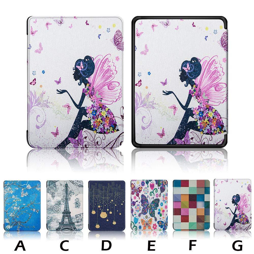 Fulltime/® Mode Ultra Mince Intelligente En Cuir Magn/étique Cas Couverture Tablet Case Cover pour  Kindle Paperwhite 4 2018 C