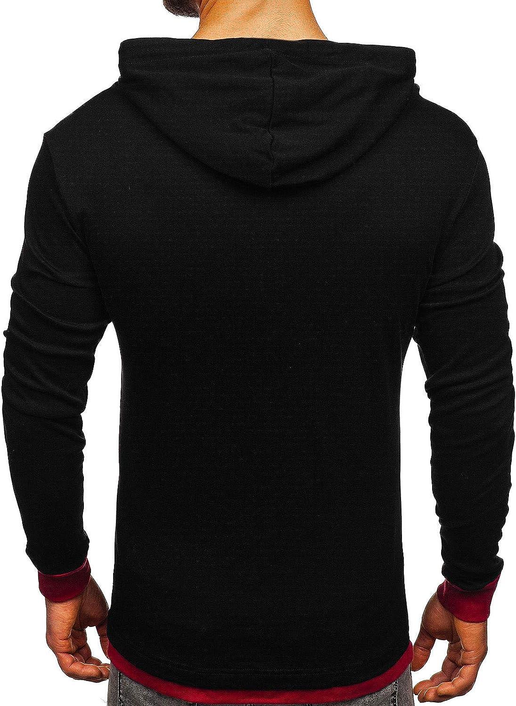 BOLF Uomo Mix 1A1 Pullover Felpa con Cappuccio Sweat-Shirt