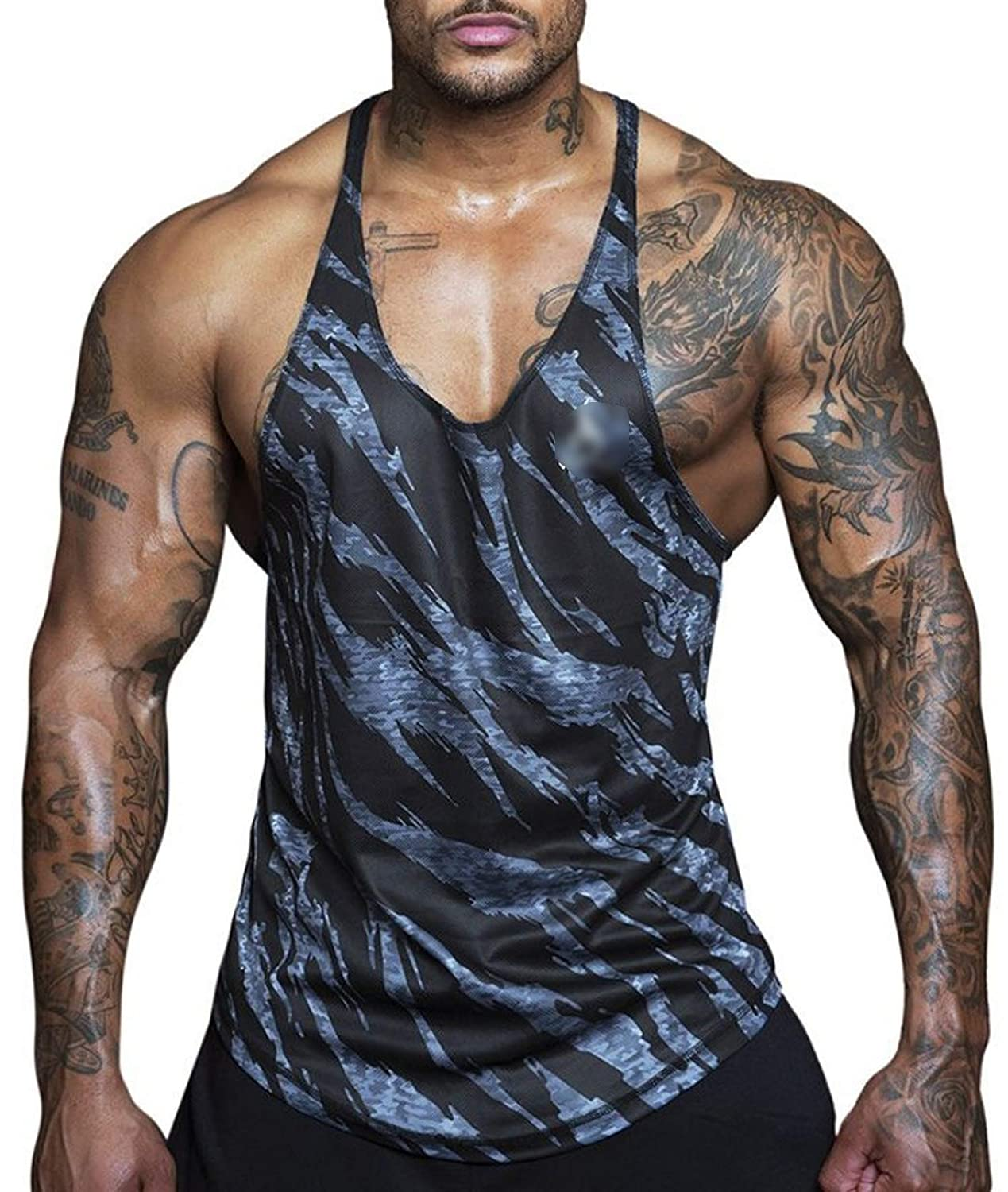 Super lucky shop-shirt Tank Tops Men Hipster Funny Cool Vest Letter Printed Male Fashion O-Neck Casual Black