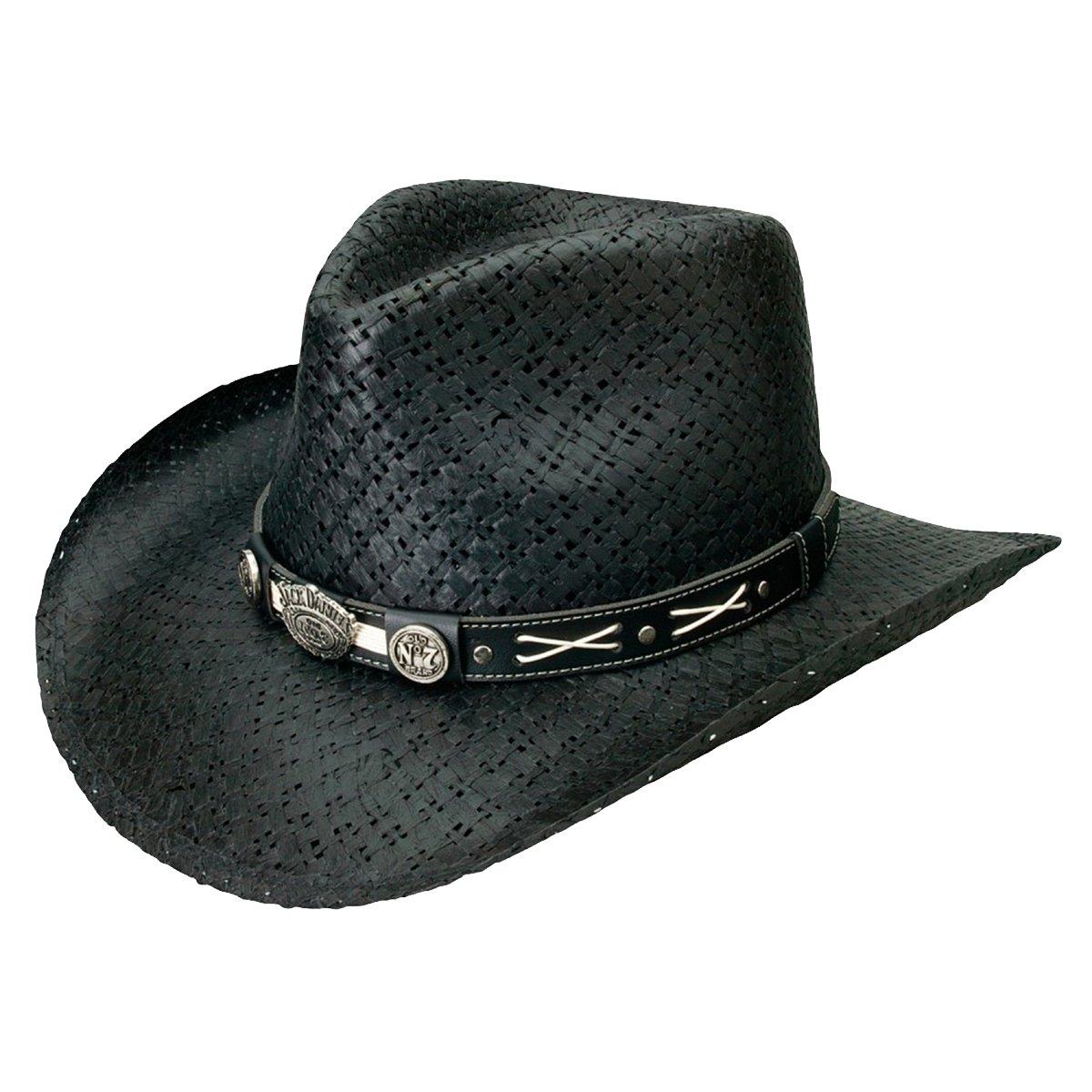 Jack Daniel Mens Daniels Soft Toyo Straw Cowboy Hat Jd03-705