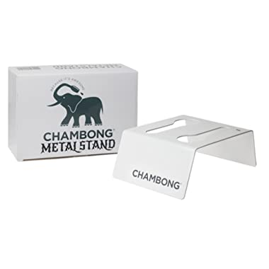 Chambong - Metal Stand - Holder For Chambong Champagne Glasses - Great Gift - Fits Acrylic, Glass, Mini Chambong (Holds 2 Chambongs)