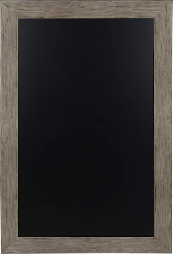 Amazon Com Designovation Beatrice Framed Magnetic Chalkboard 29 5x45 5 Rustic Brown Home Kitchen