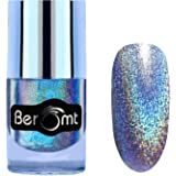 Beromt Holographic Nail Art, Hologram Effect Nail Art, Party Girl Nail Paint, Blue,507, 10 ml