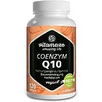 Coenzima Q10 200 mg per capsula vegan 120 capsule per una cura di 4 mesi Massima biodisponibilità Prodotto di alto livello made in Germany senza l'antiagglomerante magnesio stearato!