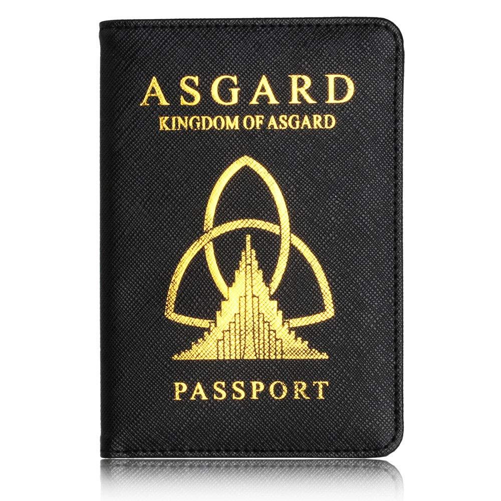 ファッション メンズ レディース 旅行 パスポートホルダー プロテクター 財布 名刺 ソフト パスポートカバー B07GTV4LBK B