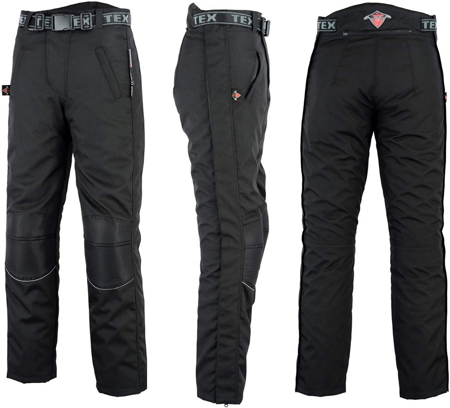 Full Length Side Leg Zips Commuting To Work Waterproof With CE Armour Protection By Texpeed Motorcycle Over Trousers