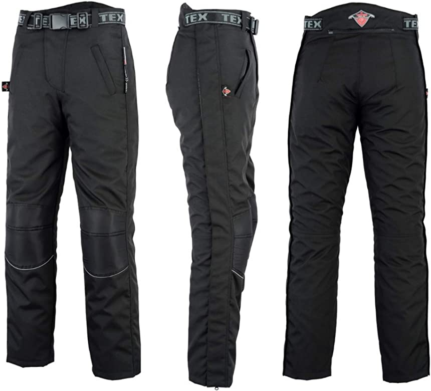 Motorcycle Over Trousers By Texpeed Full Length Side Leg Zips Commuting To Work Waterproof With CE Armour Protection