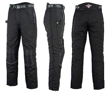 Texpeed Surpantalon de moto imperméable - fermeture Éclair sur toute la  longueur - noir - W28 a8c28f85bea3