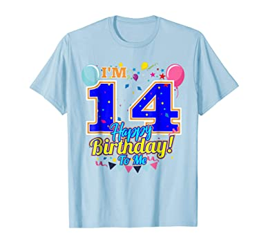 Mens Im 14 Years Old Happy Birthday To Me 14th T Shirt