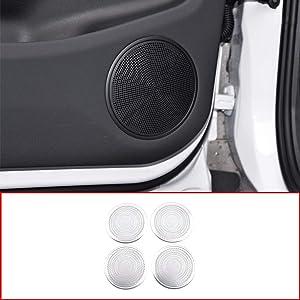 CHEYA Aluminum Alloy for Range Rover Evoque 2019 2020 Year Car Door Speaker Cover Panel Trim Accessories 4pcs