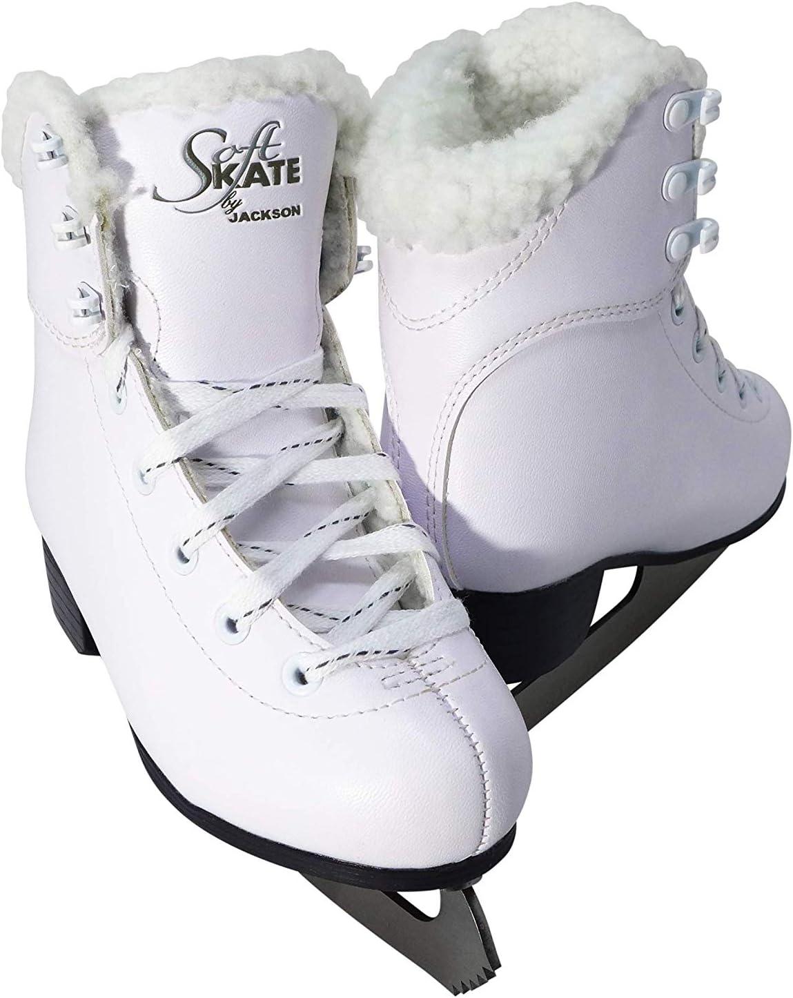 Pink Fleece Purple Jackson Ultima GS180 SoftSkate Womens Ice Skates // Blue
