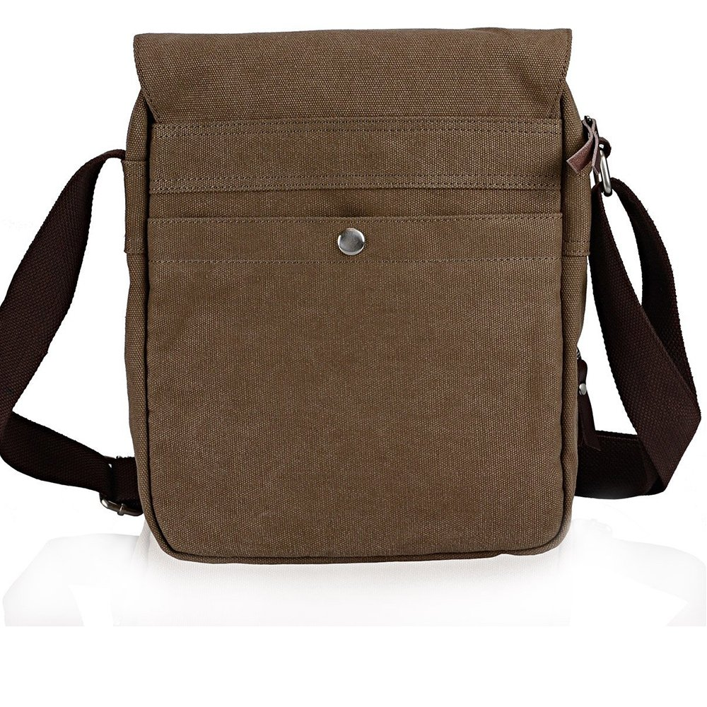 Amazon.com: Zebella Vintage Mens Small Canvas Messenger Bag Ipad ...
