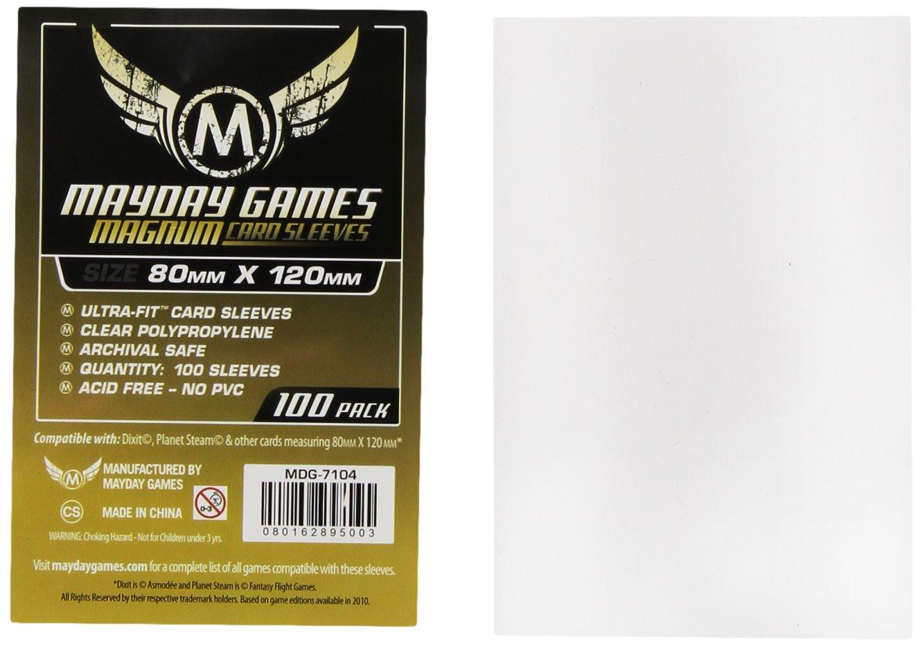 Mayday Games - 331682 - Jeu De Cartes - Housse De Protection - Magnum Gold Ultra Fit - 80 X 120 Mm - 100 Pièces