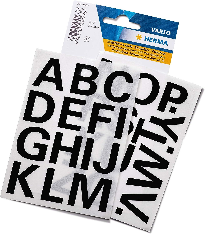 Vario Buchstaben Etiketten O-Z schwarz Herma
