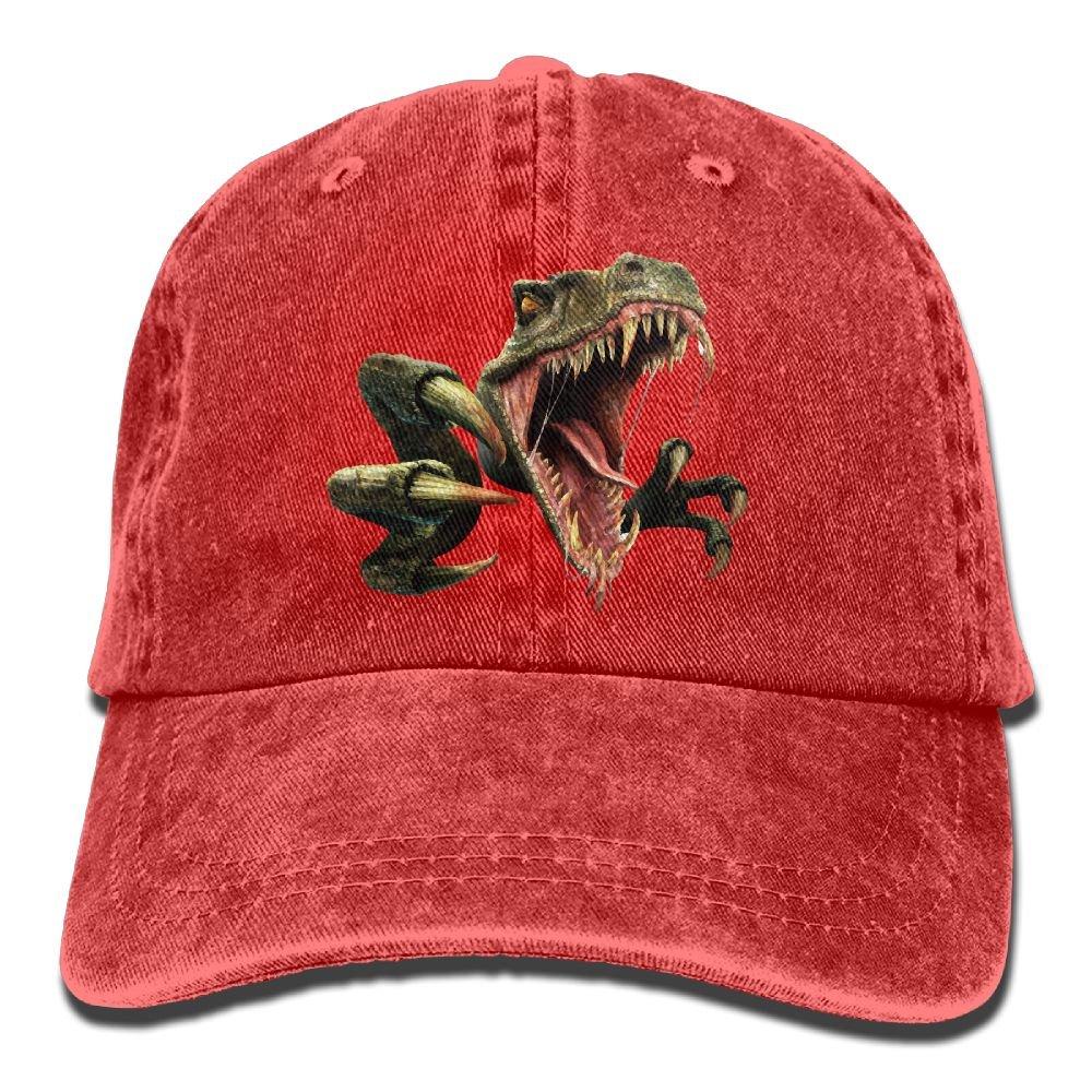 XZFQW Dinosaur Scary Raptor Trend Printing Cowboy Hat Fashion Baseball Cap For Men and Women Black