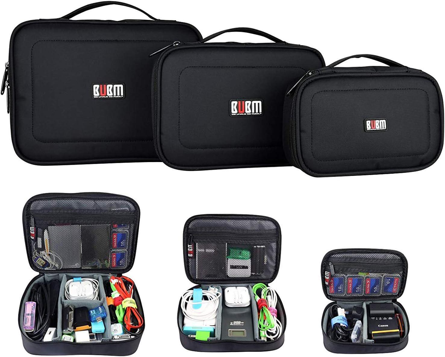 3 x BUBM ACCESORIOS PARA MÚLTIPLES FUNCIONES ALMACENAMIENTO CARRY BAG CASE Cable USB Tarjeta de memoria Cable de alimentación Almacenamiento de batería Bolsa de disco móvil Estuche