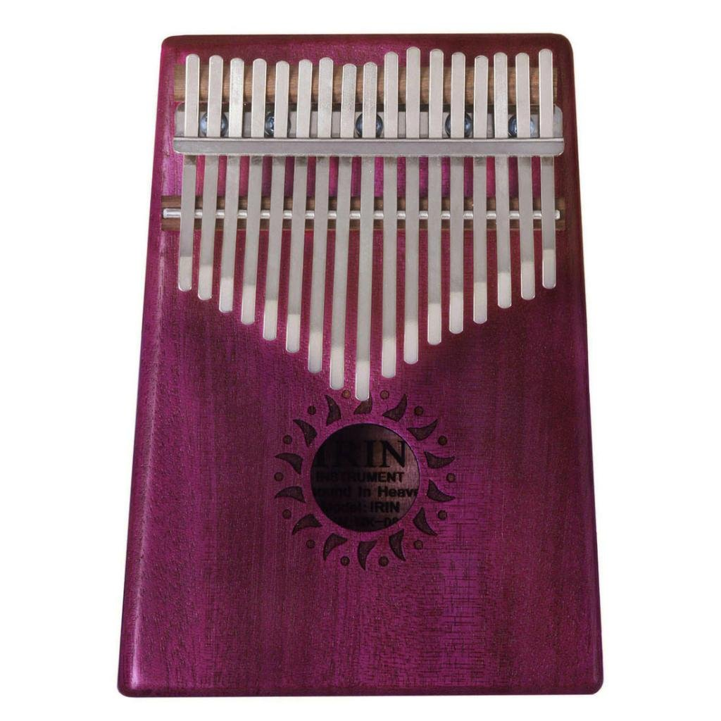 Baoblaze Acacia 17 Key Kalimba Thumb Piano with Black Shakeproof Waterproof Case Lamellaphone Idiophone Instrument Fushcia