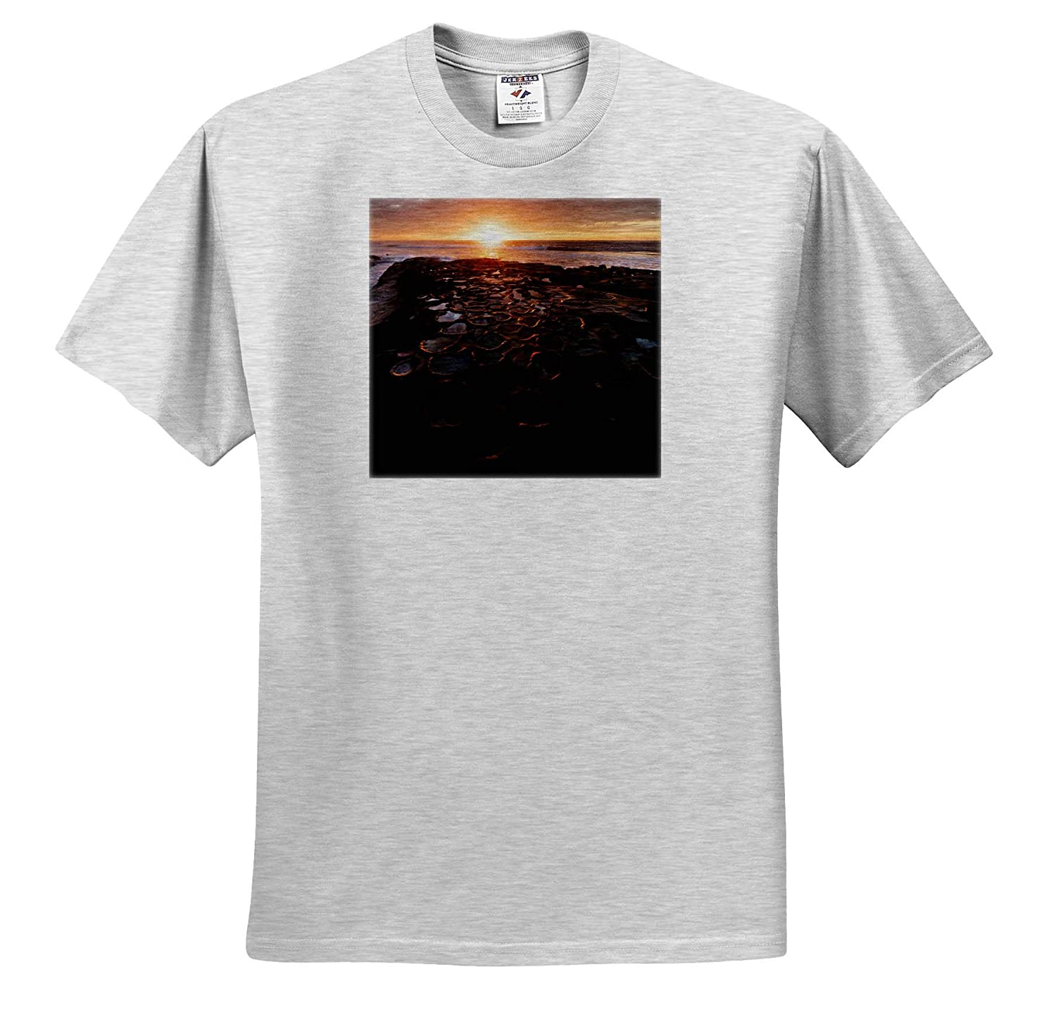 La Jolla California Sunset Over Tide Pools 3dRose Danita Delimont Seascapes - Adult T-Shirt XL USA ts/_314639
