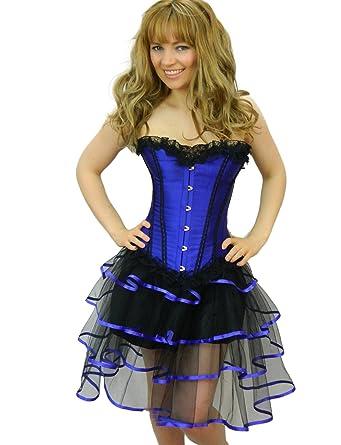 Amazon Yummy Bee Womens Burlesque Corset Frilly Tutu Skirt
