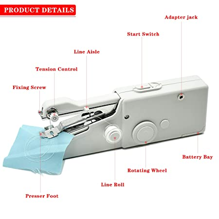 FEIGO Mini Máquina de Coser Manual Portátil Herramienta de Puntada Rápida para Cortina Ropa Tela para Tela, Ropa o Tela de Niños: Amazon.es: Hogar