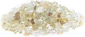 Exotic Fire Glass | Gold Reflective Fire Pit Glass | 25 Pound Bag | Medium 1/2 Inch Glass Size | Perfect for Any Natural Gas or Propane Outdoor Fire Pit