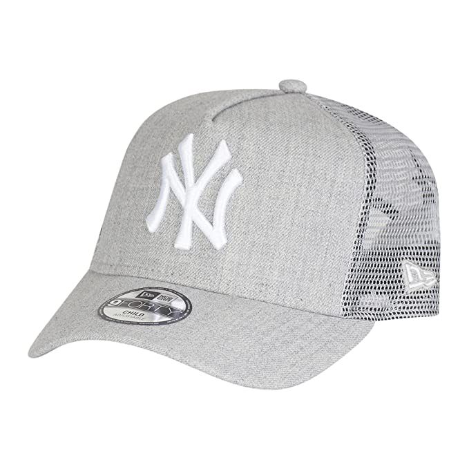 97dad8ab8c1 New Era Trucker Kinder Cap - HEATHER NY Yankees grey  Amazon.co.uk  Sports    Outdoors