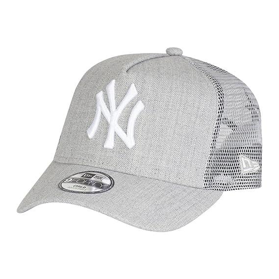 New Era Enfant Junior Trucker Visiere Incurve MLB New York Yankees Heather  Team Gris Snapback Casquette 3b6d147af38e