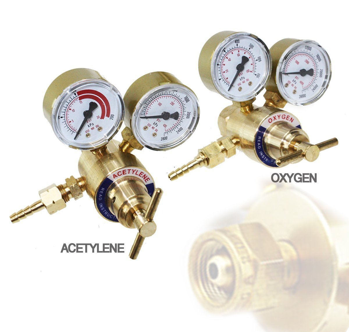 Solid Brass Oxygen and Acetylene Regulators 4 Welding Victor Gas Torch Cutting i_s import