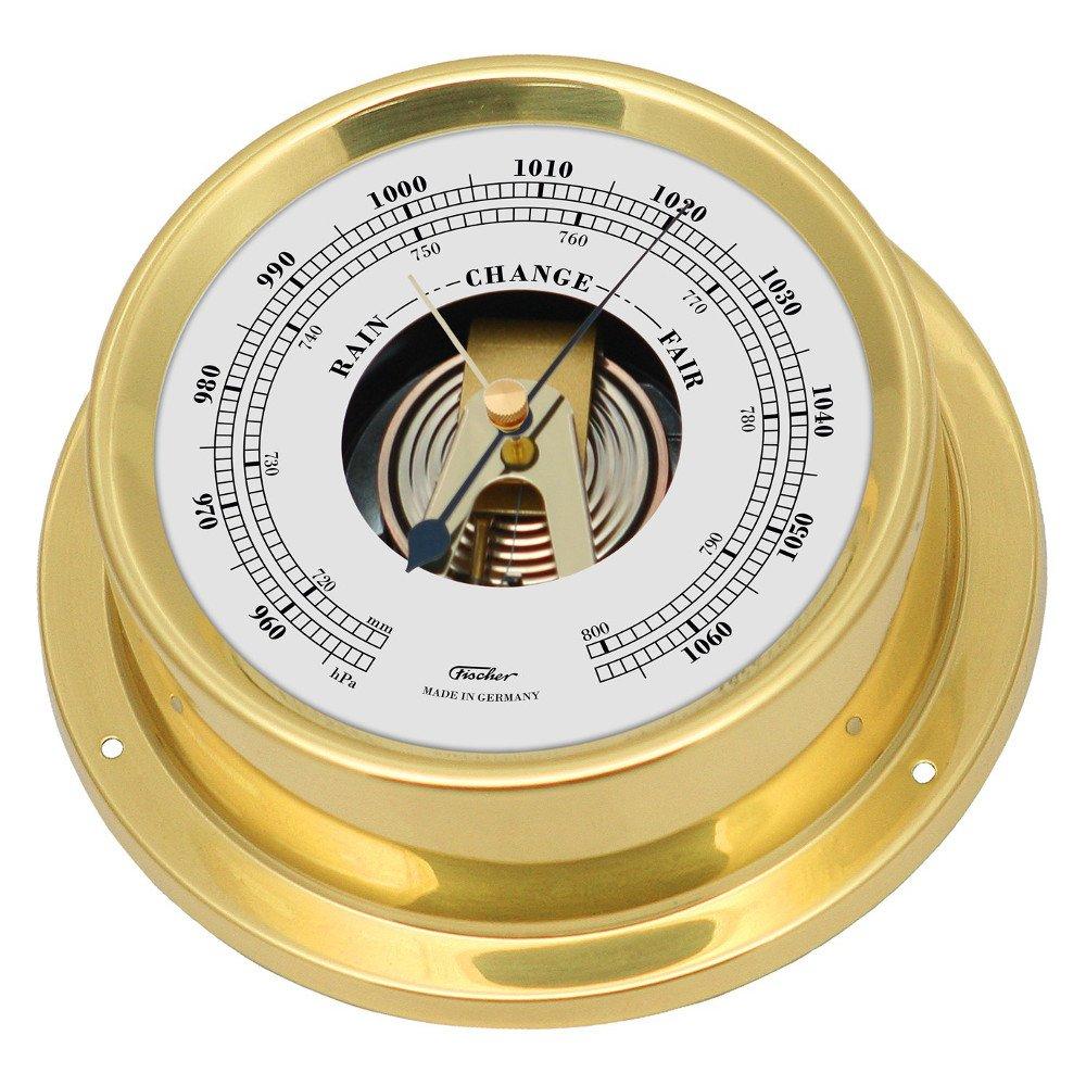 Fischer Quartz Clock Brass Multi Colour One Size