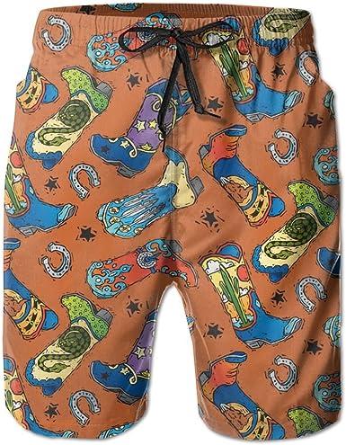 ZQ-SOUTH ZrGo Mens Table Tennis Pattern Quick-Dry Summer Beach Surfing Board Shorts Swim Trunks Cargo Shorts
