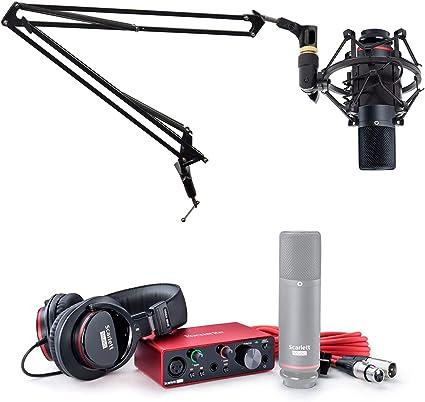 Focusrite SCARLETT SOLO STUDIO 3rd Gen Audio Interface+Mic+Headphones+Boom Arm