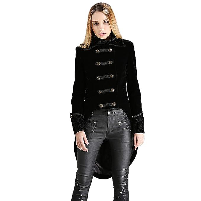 Amazon.com: Pentagramme - Chaqueta para mujer, color negro ...