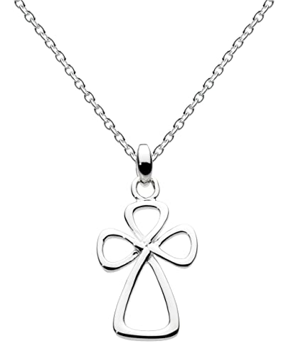 Heritage Womens Sterling Silver Celtic Twist Cross Necklace 9261HP, 18