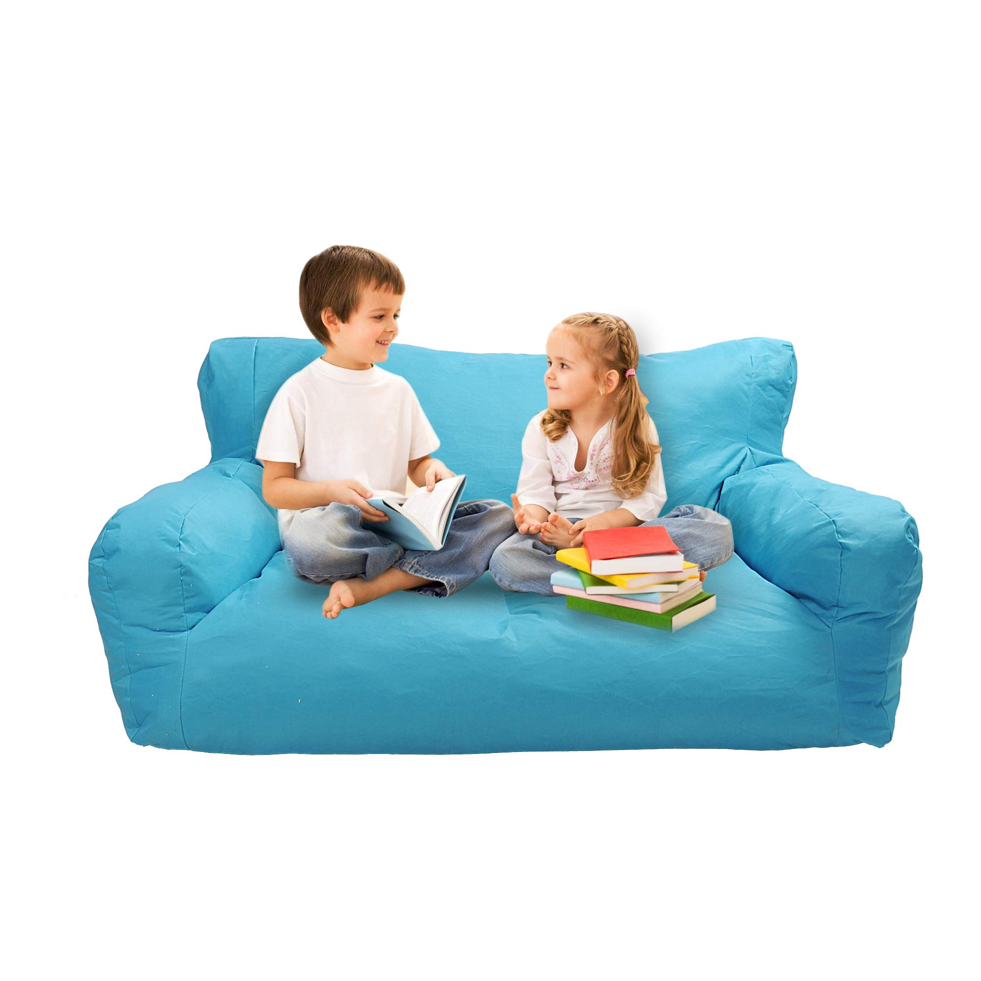 Livebest Kids Bean Bag Chair Children Memory Sponge Lounger Sofa Furniture with Two Seats,51.2 x 31.5 x 18.5 in